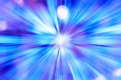 Futuristic blue light background Stock Image