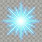 Futuristic Blue Light Effect. EPS 10 vector file stock illustration