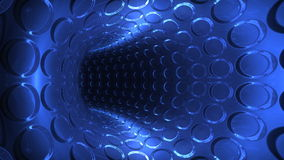 Futuristic blue light tunnel,seamless loop, stock footage Stock Photography
