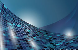 Futuristic blue vector horizontal background Stock Photography