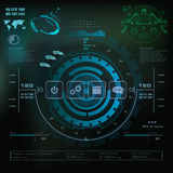 Futuristic blue virtual graphic touch user interface, Music interface, tracks, volume controls Royalty Free Stock Photography