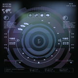 Futuristic blue virtual graphic touch user interface, Music interface, tracks, volume controls Royalty Free Stock Image