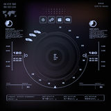 Futuristic blue virtual graphic touch user interface, Music interface, tracks, volume controls Royalty Free Stock Photo