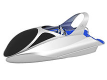 Futuristic Boat Illustration Royalty Free Stock Photos