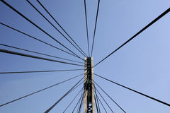 Futuristic bridge. Close up royalty free stock photo