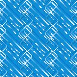 Futuristic bright blue geometric seamless tile for technology and computer background design royalty free illustration