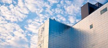 Futuristic Building. Shot of a modern metallic building Royalty Free Stock Photo