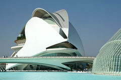 Futuristic building. In the City of Art and Science in Valencia, Spain. The buildings are designed by architect Calatrava