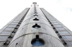 Futuristic building in New Belgrade Royalty Free Stock Photo