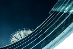 A Futuristic building at Night. The Futuristic building at Night Royalty Free Stock Photo