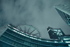 A futuristic building by night. A futuristic buildings at night Stock Photos