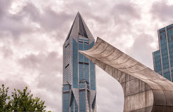Futuristic Building in Shanghai China Royalty Free Stock Image
