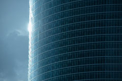 Futuristic building and the sun Royalty Free Stock Images