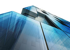 Futuristic building white isolated Royalty Free Stock Photos