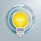 Futuristic Bulb Idea Circuit Board Stock Images