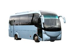 Futuristic bus. Blue coach with a futuristic design Stock Images