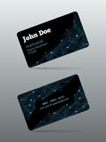 Futuristic business card Stock Image