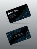 Futuristic business card Stock Image