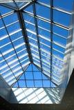 Futuristic business center roof construction Stock Photos
