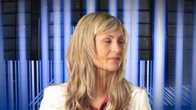 Futuristic Business Concept stock video footage