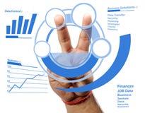 Futuristic business control royalty free stock photo
