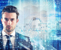 Futuristic business vision stock image