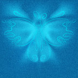 Futuristic butterfly on jeans texture background Royalty Free Stock Image