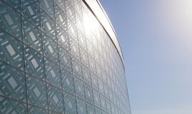 futuristic byggande Royaltyfri Fotografi