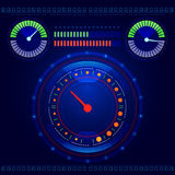 Futuristic car control panel vector Royalty Free Stock Photography