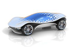 Futuristic car 3d concept Stock Photos