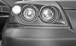 Futuristic car headlight Stock Image