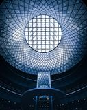 Futuristic ceiling with grids