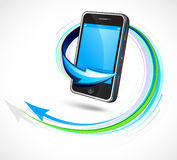 Futuristic Cellphone Stock Images