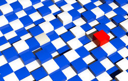 Futuristic Checkers Platform Background Royalty Free Stock Photo