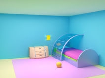 Futuristic Child Bedroom Royalty Free Stock Image