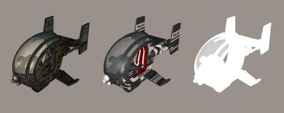 Futuristic Chopper. Digital vehicle for your artistic creations and/or projects Stock Photography