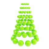 Futuristic christmas tree made of spheres isolated on white. Futuristic christmas tree made of glossy spheres composition isolated on white background vector illustration
