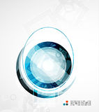 Futuristic circle abstract background Stock Image