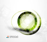 Futuristic circle abstract background Stock Photo