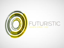 Futuristic circle business logo design Royalty Free Stock Images