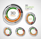 Futuristic circle business logo design Royalty Free Stock Image