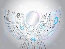 Futuristic circuit background. Hi-tech digital technology concep Royalty Free Stock Photo