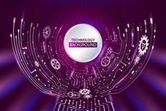 Futuristic circuit background. Hi-tech digital technology concep Stock Images