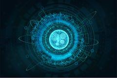 Futuristic circuit technology concept HUD royalty free illustration