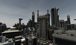 Futuristic city Stock Photos