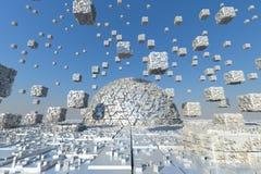 Futuristic City Stock Photo