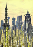 Futuristic city background royalty free stock images