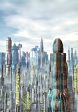 Futuristic city background Royalty Free Stock Image