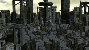 Futuristic city Royalty Free Stock Images