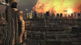 Futuristic city Royalty Free Stock Photos